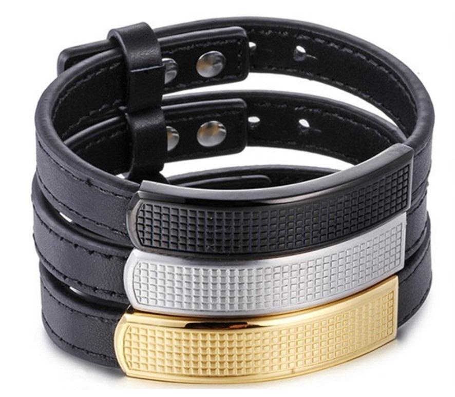 купить мужские кожаные браслеты на руку в Mrjonesru