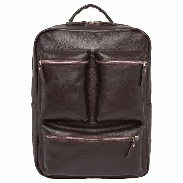 e18fb2b7186 Большой мужской рюкзак для города Lakestone Norley Brown из коричневой кожи  ...