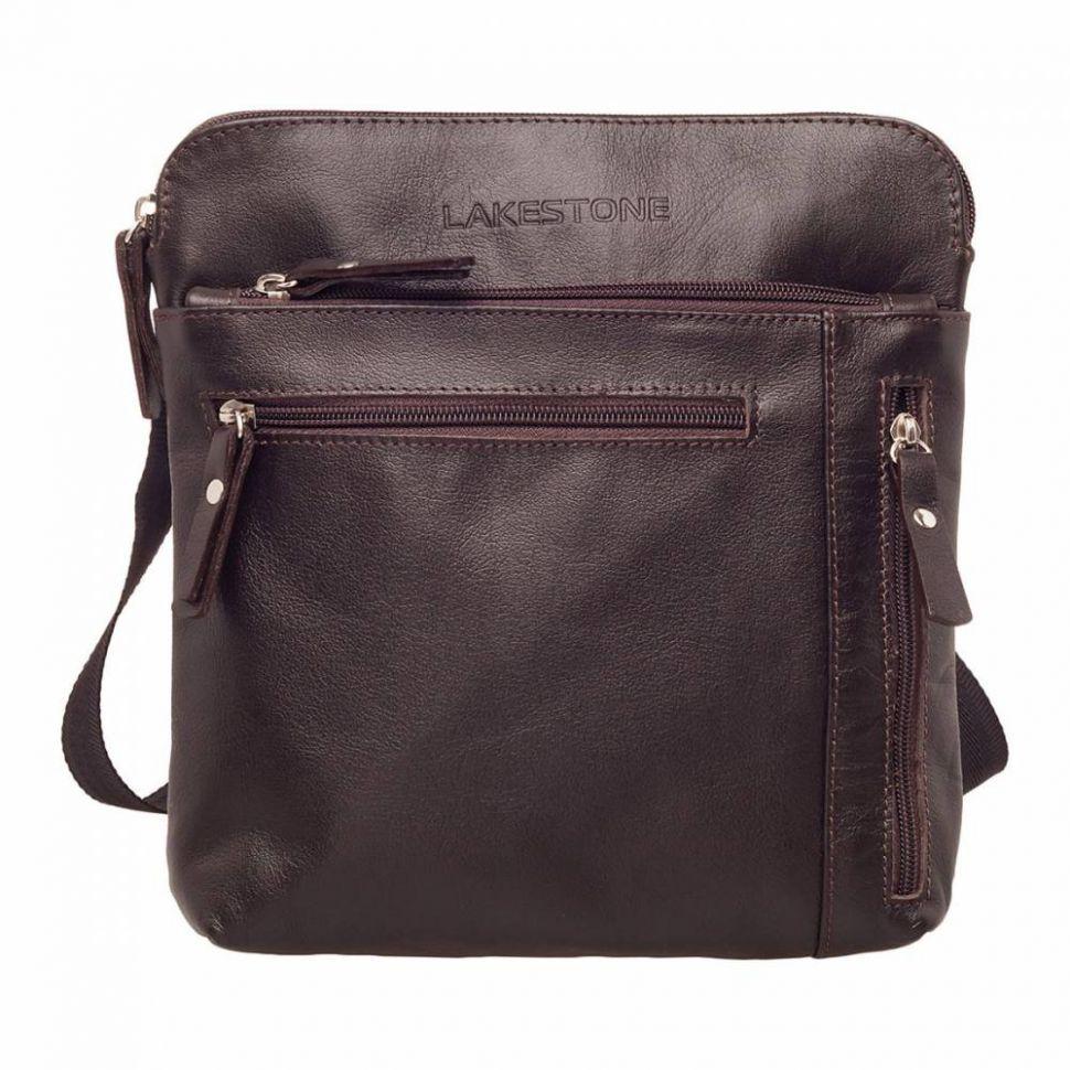 d7079d844729 Молодежная сумка через плечо Lakestone Elm Brown мужская кожаная коричневая  ...