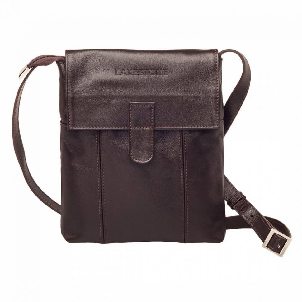 68dc086706d8 Молодежная сумка через плечо Lakestone Monkton Brown мужская кожаная  коричневая ...