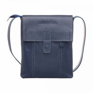 9538d3e30eb8 Молодежная сумка через плечо Lakestone Monkton Dark Blue мужская кожаная ...