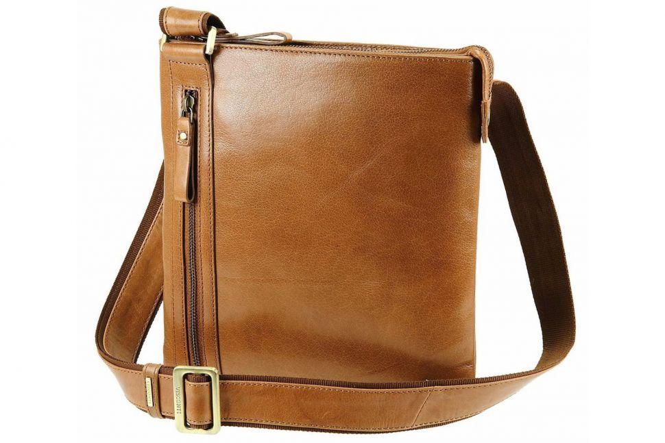 e52bad98c6a9 Сумка-планшет мужская из кожи Visconti Taylor ML25 Tan коричневая ...