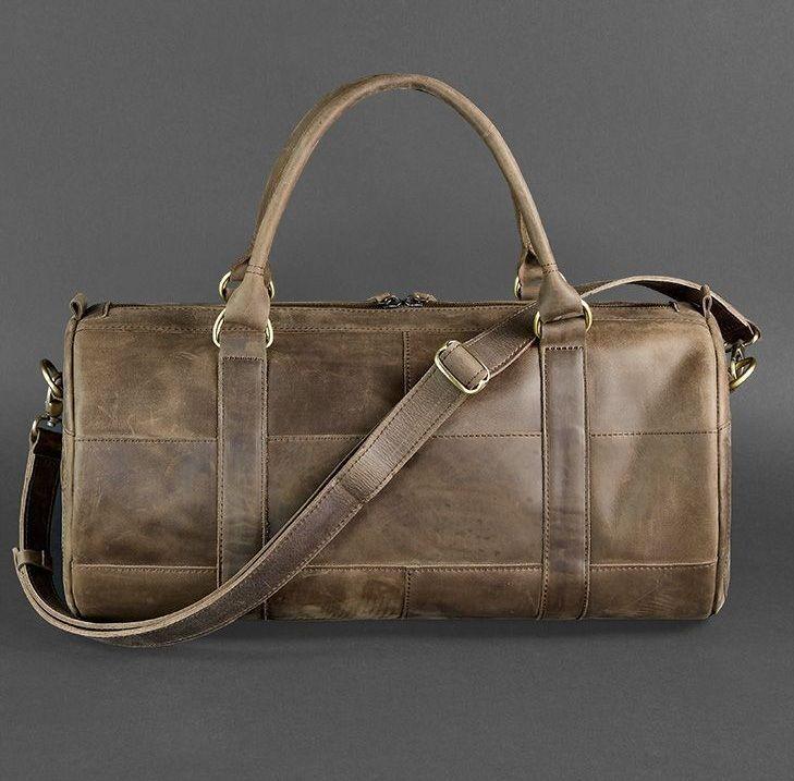 b39e83c08df0 Мужская кожаная сумка для спорта и поездок Everiot Bnote Harper орех BN-BAG-14  ...