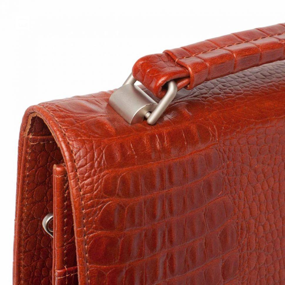 33a7c89d803a ... Портфель вертикальный (планшет) Gilbert Redwood Caiman мужской кожаный  ...